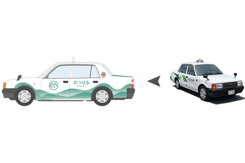 タクシーの車体ラッピングデザイン [有限会社 野津原タクシー]
