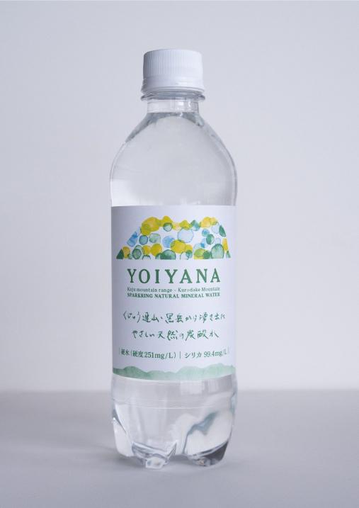 天然炭酸水 YOIYANA のラベルデザイン